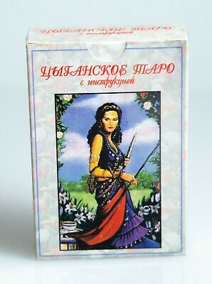 Gypsies Buckland Romani Tarot card Deck Russian Manual Book Gift for her