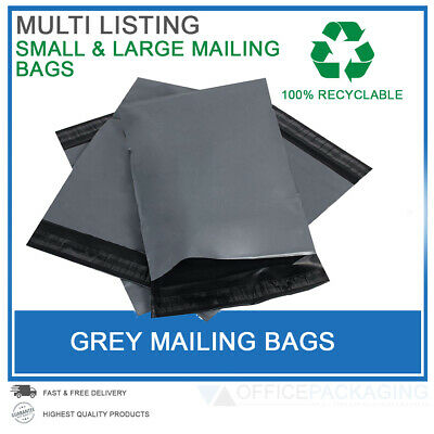 50 X 6x9 - 21x24  Size Grey Mailing Bags Strong Poly Postage Self Seal Jiffy