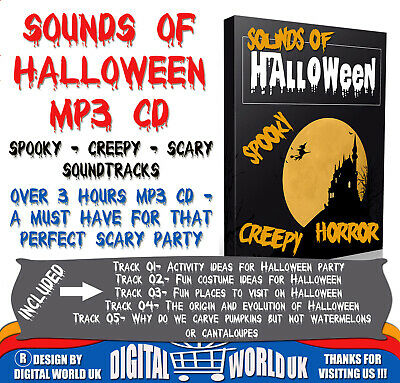 Over 3 Hours Of Spooky Halloween Background Scary, Creepy Sound Effects Mp3 Cd