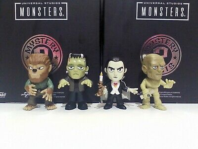 Halloween Mystery Mini Universal Monsters Lot Mummy Wolfman Dracula Frankenstein