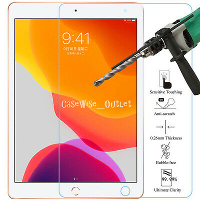 "Apple iPad 10.2"" (2019) Fits Tempered Glass Screen Protector Guard Cover Film"