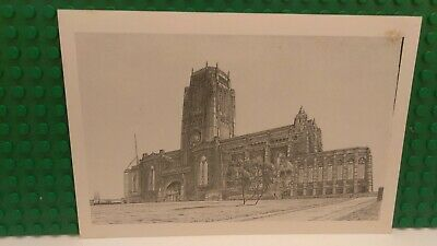 Unused Vintage Postcard Liverpool Anglican Cathedral United Kingdom