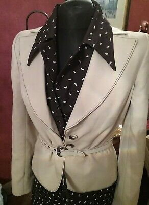 FEMINELLA 1970s 2 piece, dress & jacket size 8