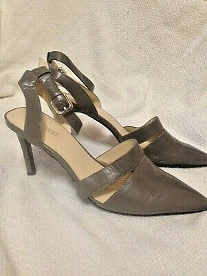 Nine West Womens Beige Ankle Strap Heel - Sz 7.5