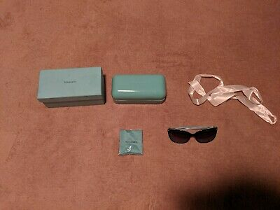 Authentic TIFFANY & CO Women's Sunglasses TF4105HB 81939S Black Blue Square 55mm