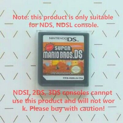 New er Super Mario Bros. DS USA Version Game Cartridges for NDS NDSL