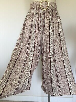 Womens Vintage 90s Deadstock High Waisted Culottes Pants Trousers S
