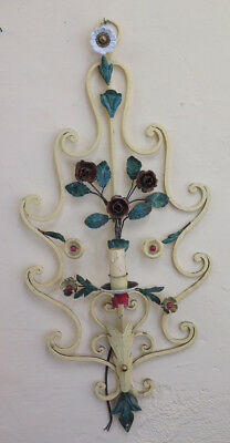 Wall Style Floral Wrought Iron Vintage half '900 Light Wall CH11