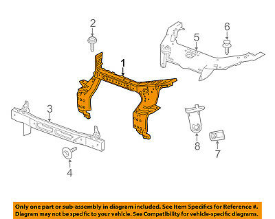 For Buick Enclave 2008-2012 Replace GM1225300 Upper Radiator Support Tie Bar