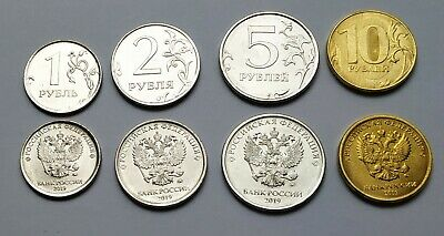 """Russia set of 4 coins 1-10 roubles 2016 /""""New types/"""" UNC"""