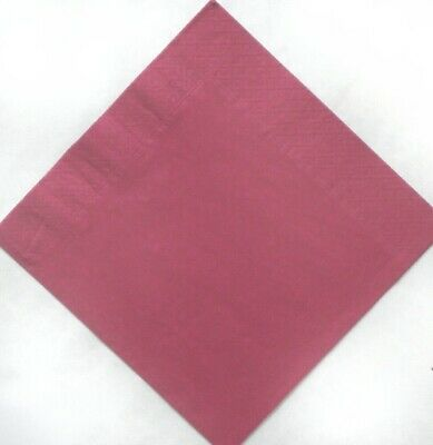 Burgundy 3 ply Dinner napkins 40cm.  50 in pack Wedding, birthday, party