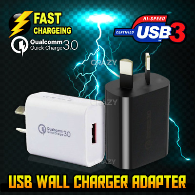 Qualcomm Quick Charge QC 3.0 Universal Super Fast USB Wall Charger 18W AU Plug