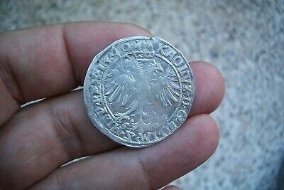 A66* Spanish Netherlands Excellent Large Silver 4 Patards Charles V 1540 Antwer