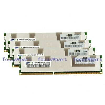 Samsung 32GB 8x 4GB DDR3 PC3-10600R 1333Mhz 2Rx4 240Pin ECC REG SERVER MemoryRAM