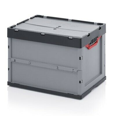 Professional Catering Box 60x40x42 with Lid Stackable Foldable Plastic