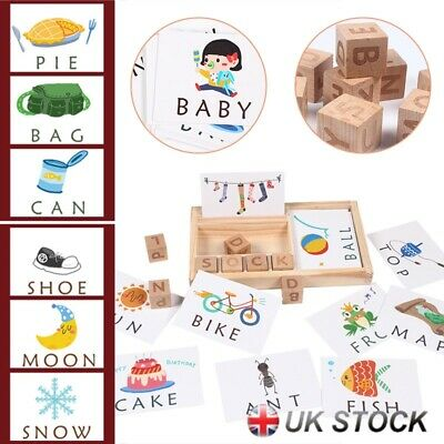 Baby 3-in-1 Spelling Learning Game Wooden English Spelling Words Enlightenment A