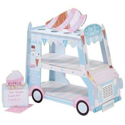 Ice Cream Van Stand Cars Display Stand Cupcakes Event Party Disposable Birt T8S8