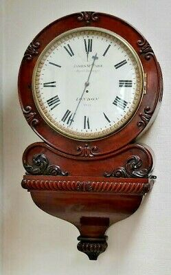 EARLY VICTORIAN DIAL WALL CLOCK BY JAMES McCABE ROYAL EXCHANGE LONDON