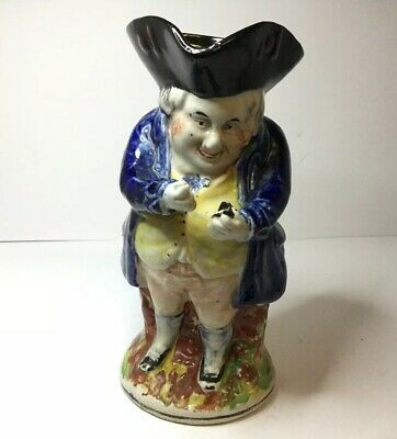 Antique Toby Jug Staffordshire Pottery Snuff Taker