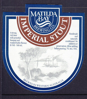 BEER LABELS: MATILDA BAY  IMPERIAL STOUT  500ml