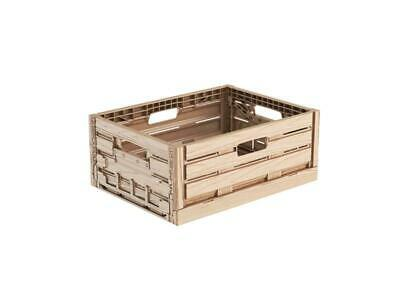 Folding Box in Wood Design 40x30x16 Produce Crate Vegetable