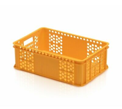 Bakery Box 60x40x20 Yellow Bread Basket Euro Containers Perforated