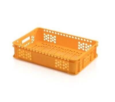 Bakery Box 60x40x13 Yellow Bread Basket Euro Containers Perforated