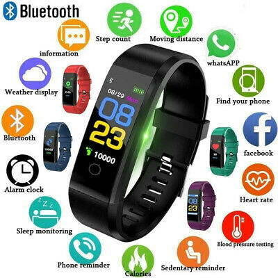 Fitness Smart Watch Activity Tracker WomenMen Kid Fitbit Android iOS Heart Rate@
