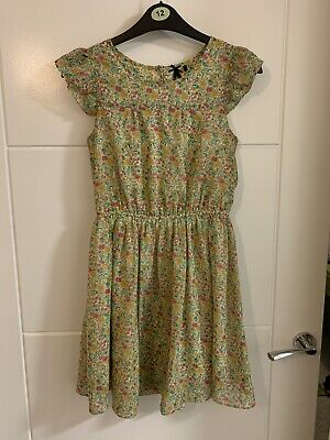 Girls Next Ditsy Floral Lined Dress Size 10 Years