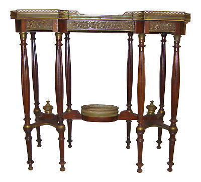 1860's Antique French Console Table - Louis XVI  Bronze and Onyx