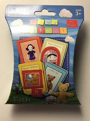 Play School Fish Card Game For 2-4 Players
