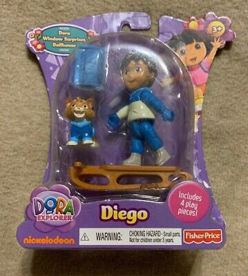 Fisher-Price Dora The Explorer Window Surprises Dollhouse Diego - New