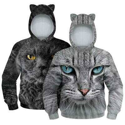 Kids Animal Printed Sweatshirt Hoodie Jumper Fit Sweater Boys Girls Casual Tops
