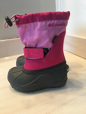 COLUMBIA Size 9 Powerbug Plus 2  Snow Boots Pink  Big Kid GIRLS