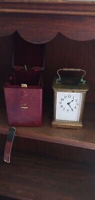 Antique Duverdry & Bloquel Company French Brass Glass Carriage Clock Key Case