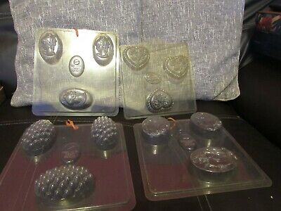 4 Decorative Soap Moulds Each With 3 Cavities By Precision Craft Molds