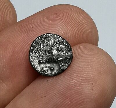 Ancient Celtic Central Europe Boii 1st century BC Silver Obol Athena Alkis Type