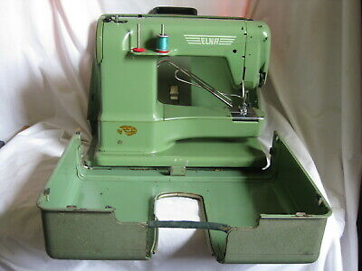 *not tested vintage ELNA 722010 sewing machine w/ metal case