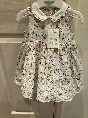 Boots Mini Club Baby Girl Party Lined Dress + Matching Knickers 0-3 Months BNWT