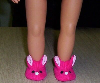 """OUR GENERATION 18"""" DOLLS BUNNY SLIPPERS / American Girl doll clothes Shoes"""