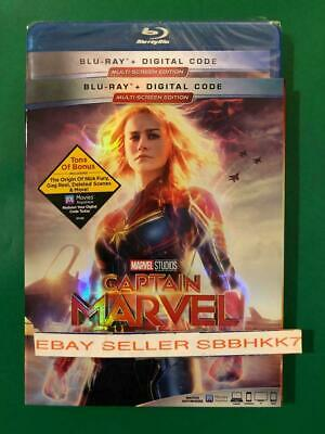 Captain Marvel Blu-Ray + Digital HD & Slipcover Brand New Sealed Free Shipping
