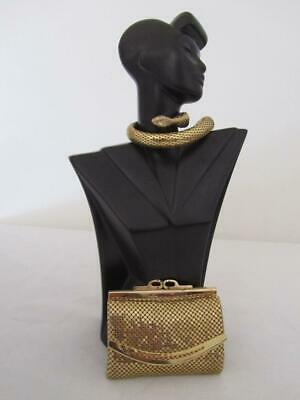 As New Vintage Gold Mesh Ladies WALLET Purse