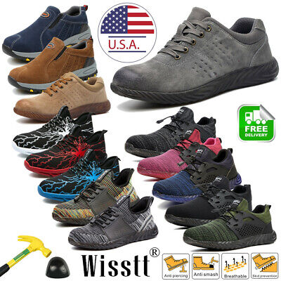 Men's Steel Toe Cap Safety Shoes Shielding Work Boots Sneakers Composite Toe