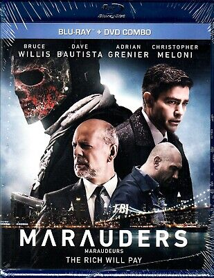 NEW  BLU RAY + DVD - MARAUDERS - Bruce Willis, Dave Bautista, Christopher Meloni