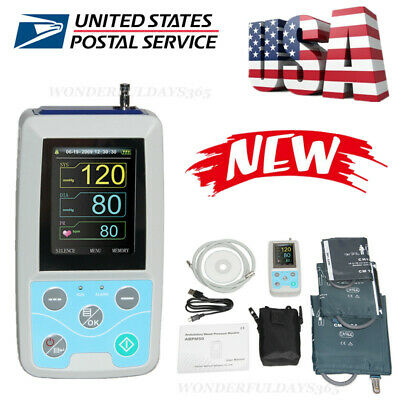 Ambulatory Blood Pressure Monitor 24 hrs recorder NIBP adult child 3 BP cuffs