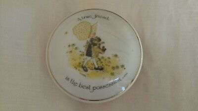 Holly Hobbie Vintage Porcelain 1975 Trinket Box Jewellery