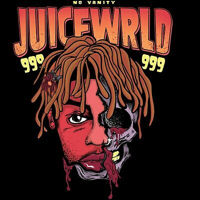 W854 Juice WRLD Rap Music Singer Star Cover Skull Pop Poster Wall Art