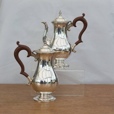 ANTIQUE Sterling Silver CAFE O LAIT (Milk & Coffe Jugs) Hallmarked London 1931
