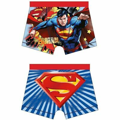 2 Pack Boys Kids Superman Boxers Shorts Trunk Pants Underwear Briefs  4-10 Years