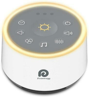 Dreamegg D1 Sound Machine - White Noise Machine with Baby Night Light for Sleepi